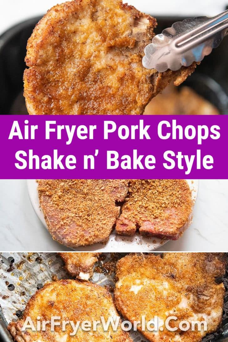 Air Fryer Shake N Bake Pork Chops Recipe | AirFryerWorld.com