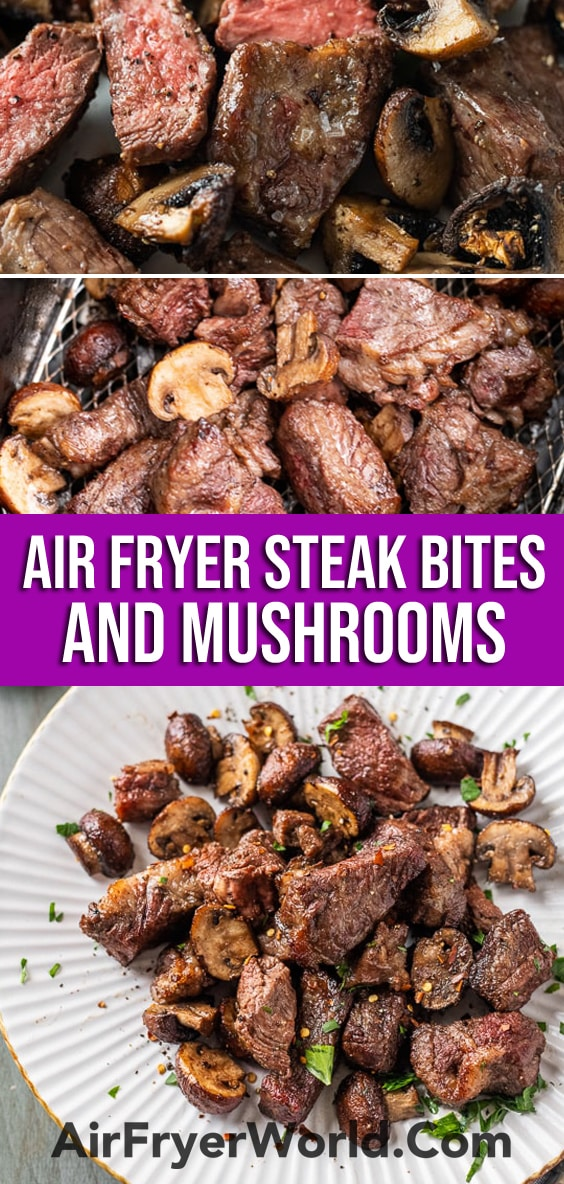 Air Fryer Steak Bites Recipe that's Air Fried | AirFryerWorld.com