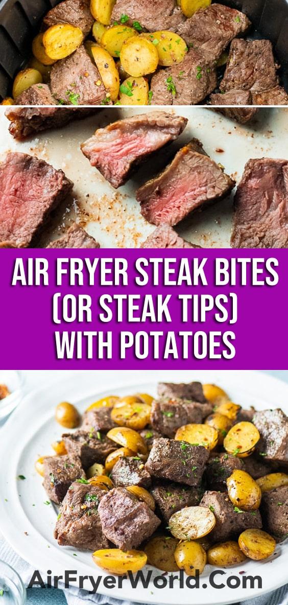Best Air Fried Steak Tips Recipe in Air Fryer   AirFryerWorld.com