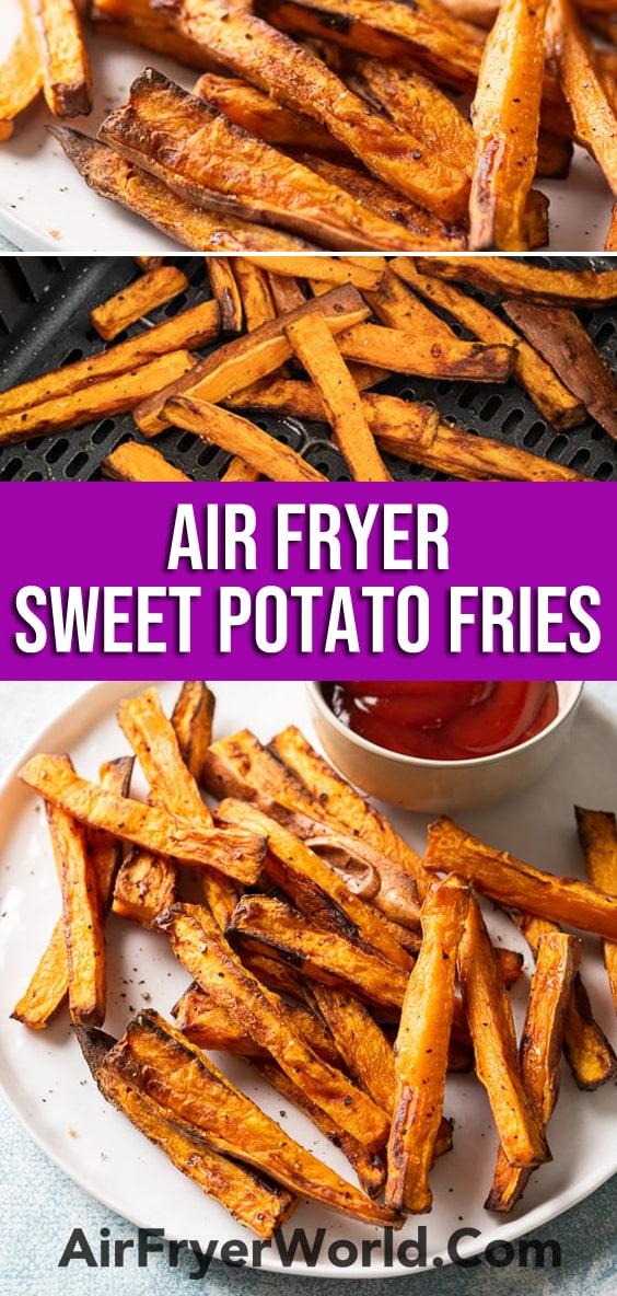 How to make air fried sweet potato fries | AirFryerWorld.com