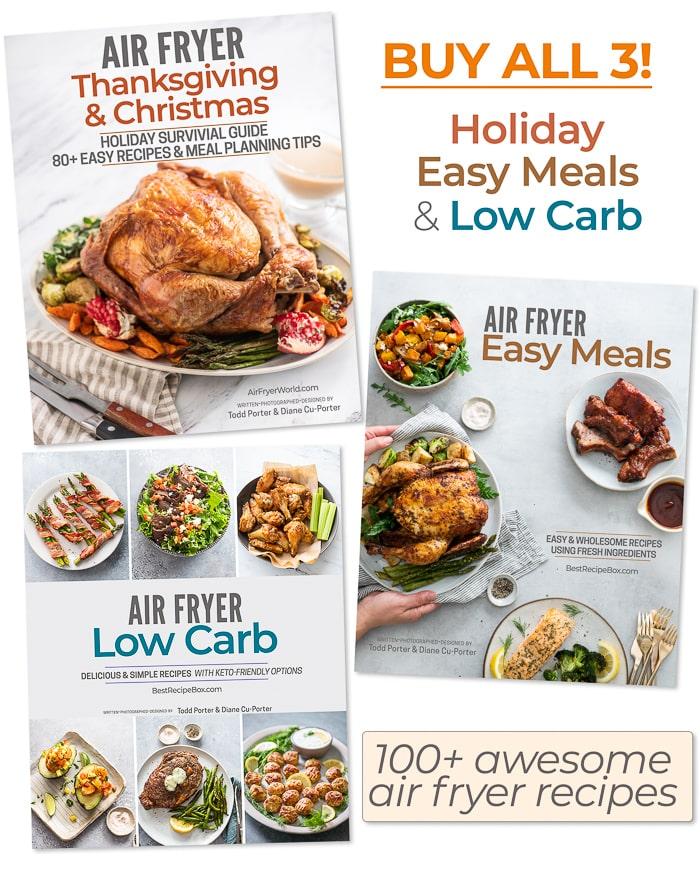 air fryer cookbook bundle covers