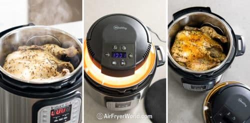 Mealthy Crisp Lid to Air Fry on Pressure Cooker