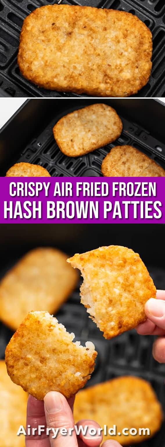 How to Air Fry Frozen Hash Brown Patties Crispy Easy | BestRecipeBox.com