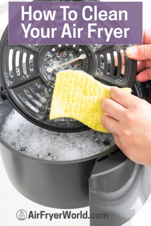 sponge cleaning air fryer basket