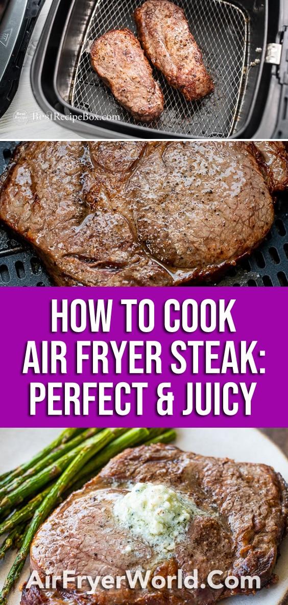 Air Fryer Steak Bites w Mushrooms   AirFryerWorld