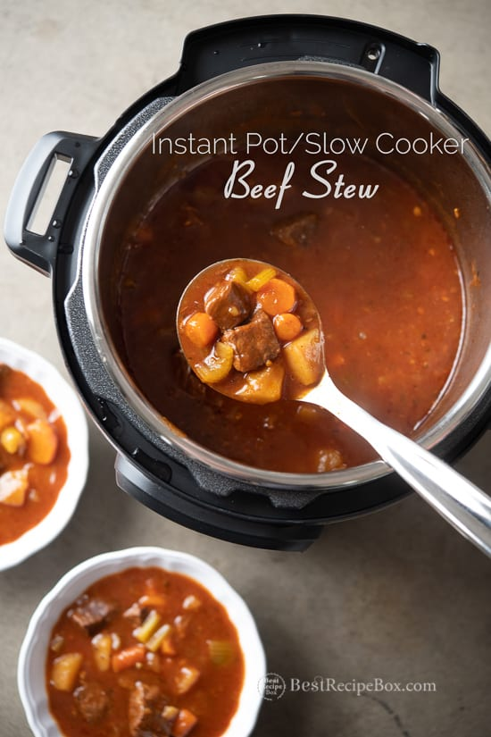 Instant Pot Beef Stew Recipe Slow Cooker Beef Stew | @bestrecipebox