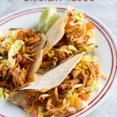Instant Pot Chicken Tacos Recipe in Pressure Cooker | BestRecipebox.com
