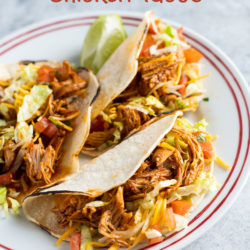Instant Pot Chicken Tacos Recipe in Pressure Cooker | BestRecipebox.com