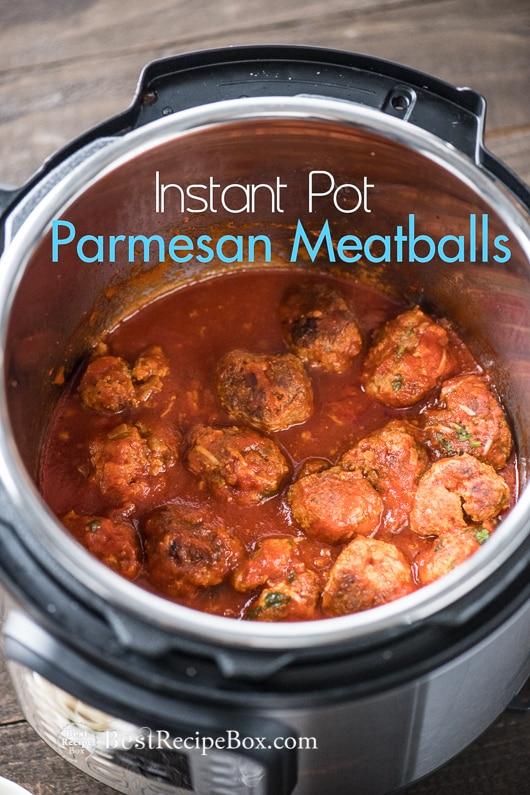 Instant Pot Meatballs Recipe or in Slow Cooker | @bestrecipebox
