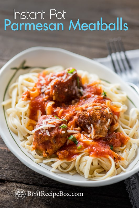 Instant Pot Parmesan Meatballs Recipe or in Slow Cooker | @bestrecipebox
