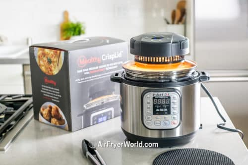 Mealthy Crisp Lid Review Air Fry on Pressure Cooker