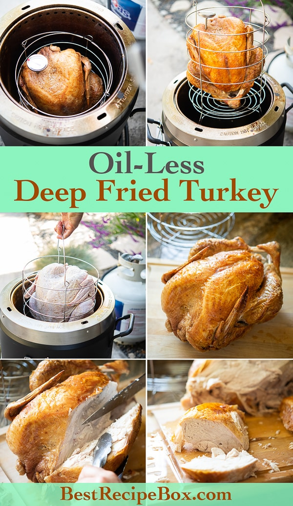 Oil Less Deep Fried Turkey in Air Fryer step by step photos
