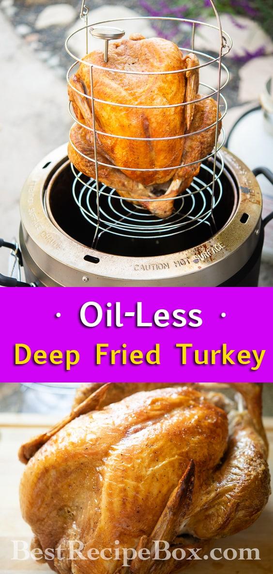 Oil Less Deep Fried Turkey in Air Fryer @BestRecipeBox