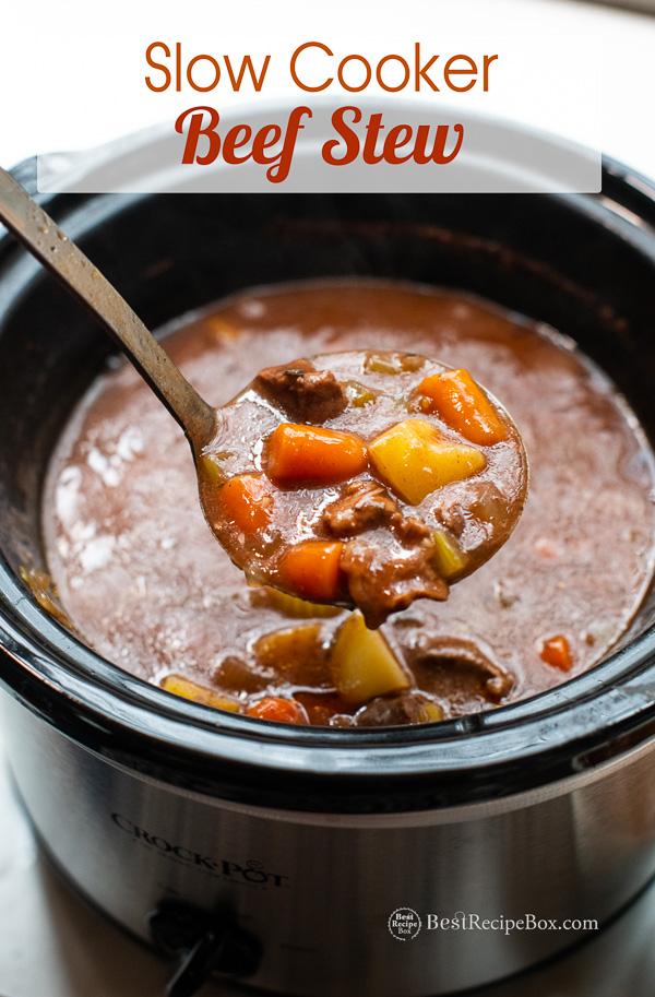 Slow Cooker Beef Stew Recipe in Crock Pot | BestRecipeBox.com
