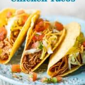 Slow Cooker Chicken Tacos Recipe in Crock Pot   BestRecipeBox.com
