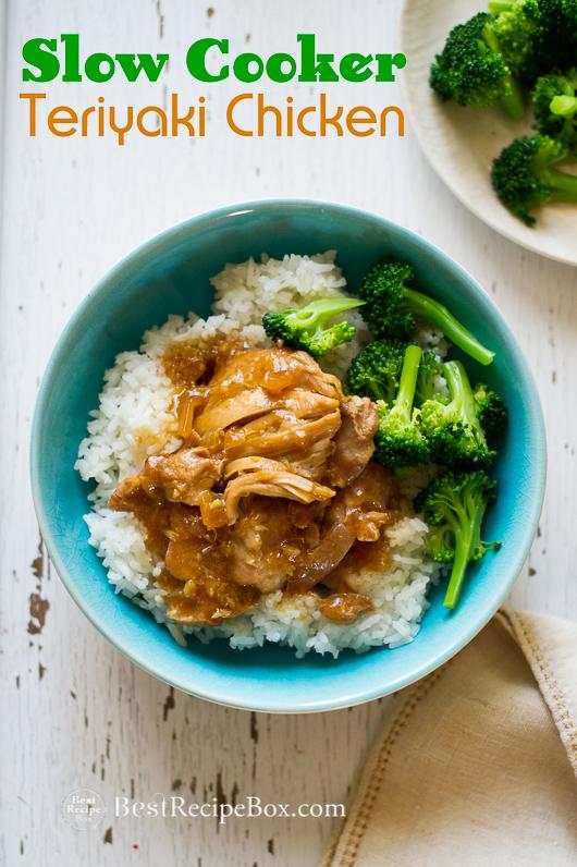 Slow Cooker Terikayi Chicken is super easy Asian Teriyaki Recipe   @bestrecipebox