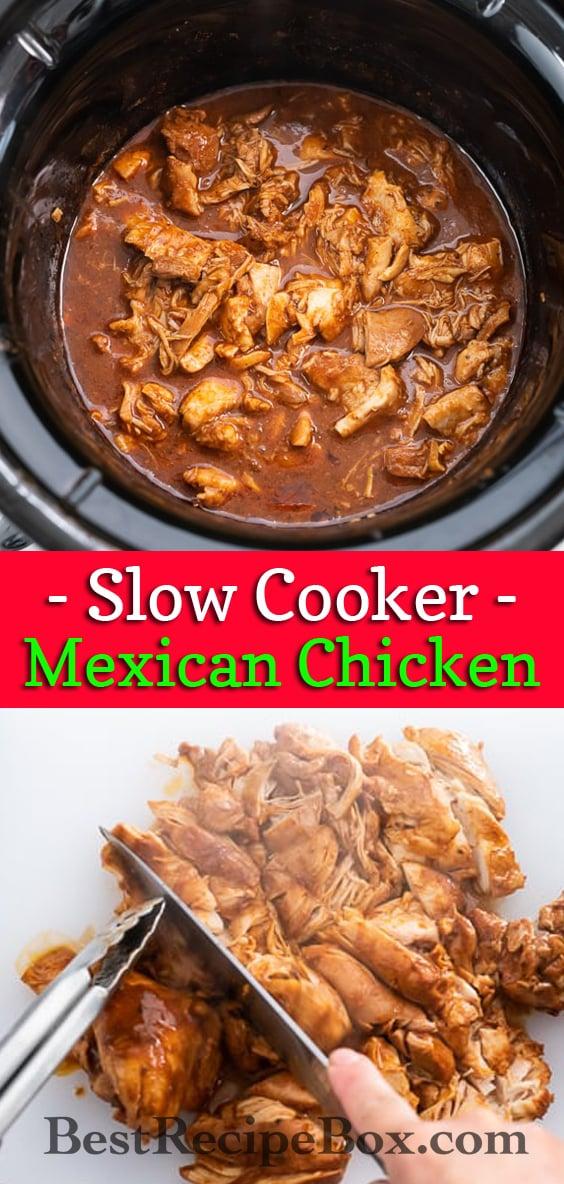 Crock Pot Mexican Chicken Recipe   BestRecipeBox.com