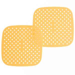 """8.5"""" Square Fuzzy Peach Silicone Mat"""