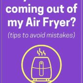 Is Smoke Coming Out of Your Air Fryer? Read This.